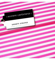 Performance Activewear Jersey Sporty Stripes pink