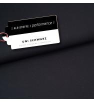 Reststück 30 cm Performance Activewear Jersey schwarz