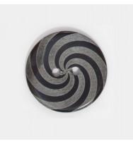 Perlmutter-Knopf Black Pen Spirale 23 mm