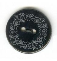 Perlmutter-Knopf Black Pen Blume