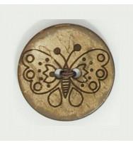Kokosnuss-Knopf Schmetterling 31 mm
