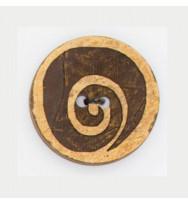 Kokosnuss-Knopf Spirale 31 mm