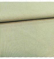 Popeline Webkaro klein cedar green/weiß