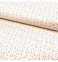 Flanell Confetti pink multi