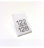10 Größenlabel 122/128