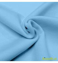 Reststück 31 cm Bündchen himmelblau