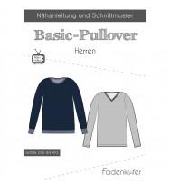 Schnittmuster Fadenkäfer Basic-Pullover Herren