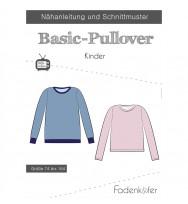 Schnittmuster Fadenkäfer Basic-Pullover Kinder