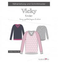 Schnittmuster Fadenkäfer Pullover Vicky Kinder