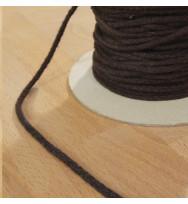 Kordel 4 mm dunkelbraun