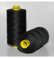 Nähgarn Recycling-Polyester 1000 m - schwarz 000