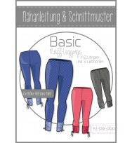 Schnittmuster Kibadoo Basic-Raffleggings Damen