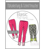 Schnittmuster Kibadoo Basic-Raffleggings Kinder