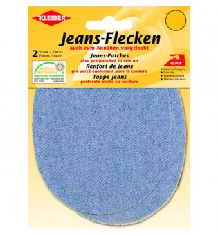 Jeans-Flecken hellblau