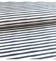 Jersey Black Bloom Stripe