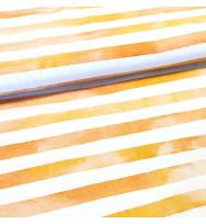 Popeline Aquarellringel gelb