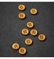 Knopf Steinnuss mit Rand 11 mm amber