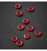Knopf Steinnuss mit Rand 11 mm berry