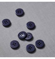 Knopf Steinnuss 15 mm blueberry