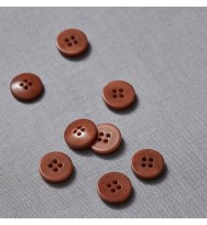 Knopf Steinnuss 15 mm pecan