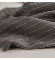 Tencel-Piqué Pin Stripe grey