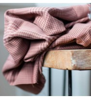 Tencel-Plaid old rose