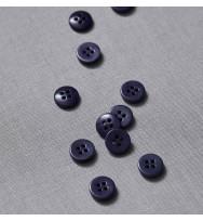 Knopf Steinnuss 11 mm blueberry
