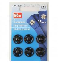 Annäh-Druckknöpfe 15 mm schwarz
