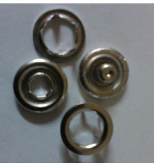 Druckknopf Jersey 10 mm Ring silber