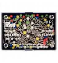 Glaskopfstecknadeln Prym, 95 Stück