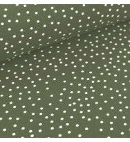 Jersey Dotties olive