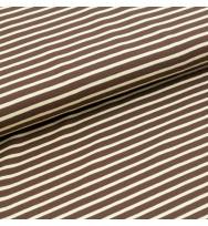 Jersey Streifen braun/beige