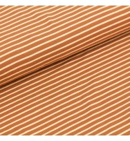 Jersey Streifen karamell