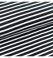 Jersey Streifen schwarz/weiß