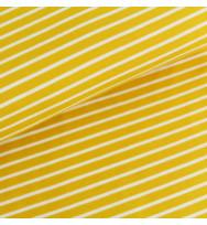 Jersey Streifen senfgelb/weiß