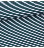 Jersey Streifen water by night/weiß