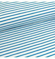 Jersey Streifen weiß/blau