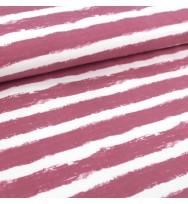 Kuschelsweat Mellow Stripes vintage rose