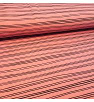 Stretch-Kuschelsweat Stripes blush