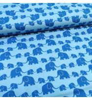 Druckstoff Elefanten blau