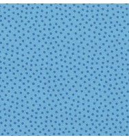 Druckstoff Pünktchen blau