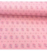 Druckstoff Prinzessin Blumen rosé