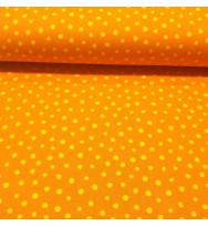 Druckstoff Punkte orange-gelb