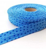 Schrägband Punkte blau