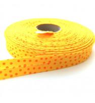 Schrägband Punkte gelb