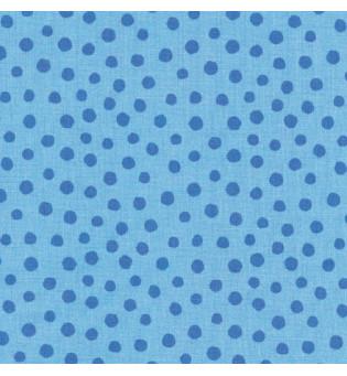 Druckstoff Punkte blau