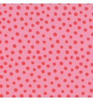 Druckstoff Punkte rosa-rot