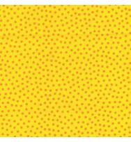 Druckstoff Pünktchen gelb-orange