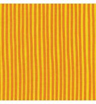 Druckstoff Streifen gelb-orange