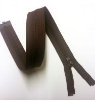 Reißverschluss/Zipp teilbar dunkelbraun